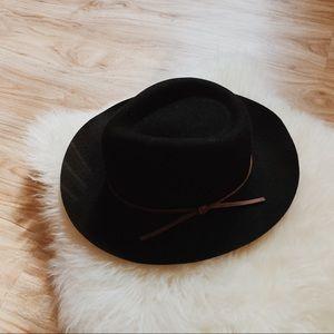 + MADEWELL // BILTMORE BLACK FELT HAT +